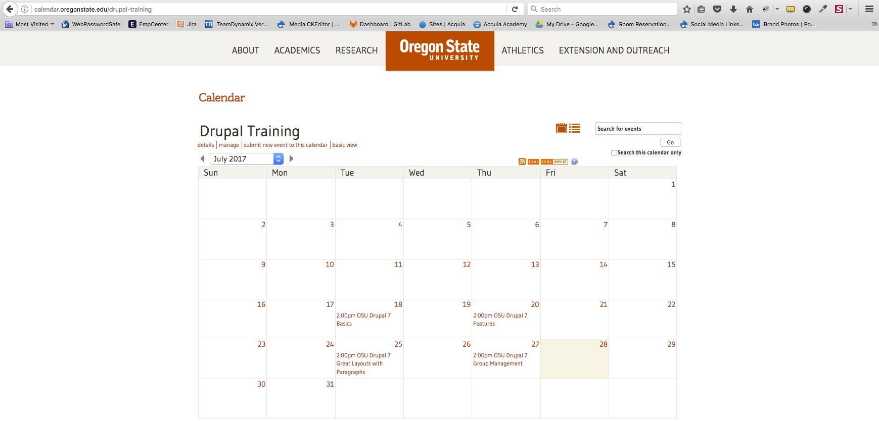 OSU Live Feeds - OSU Events - Event Calendar