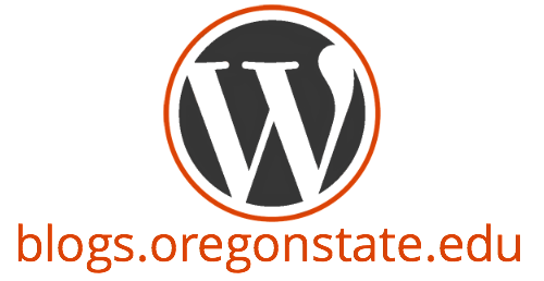WordPress Logo with blogs.oregonstate.edu underneath