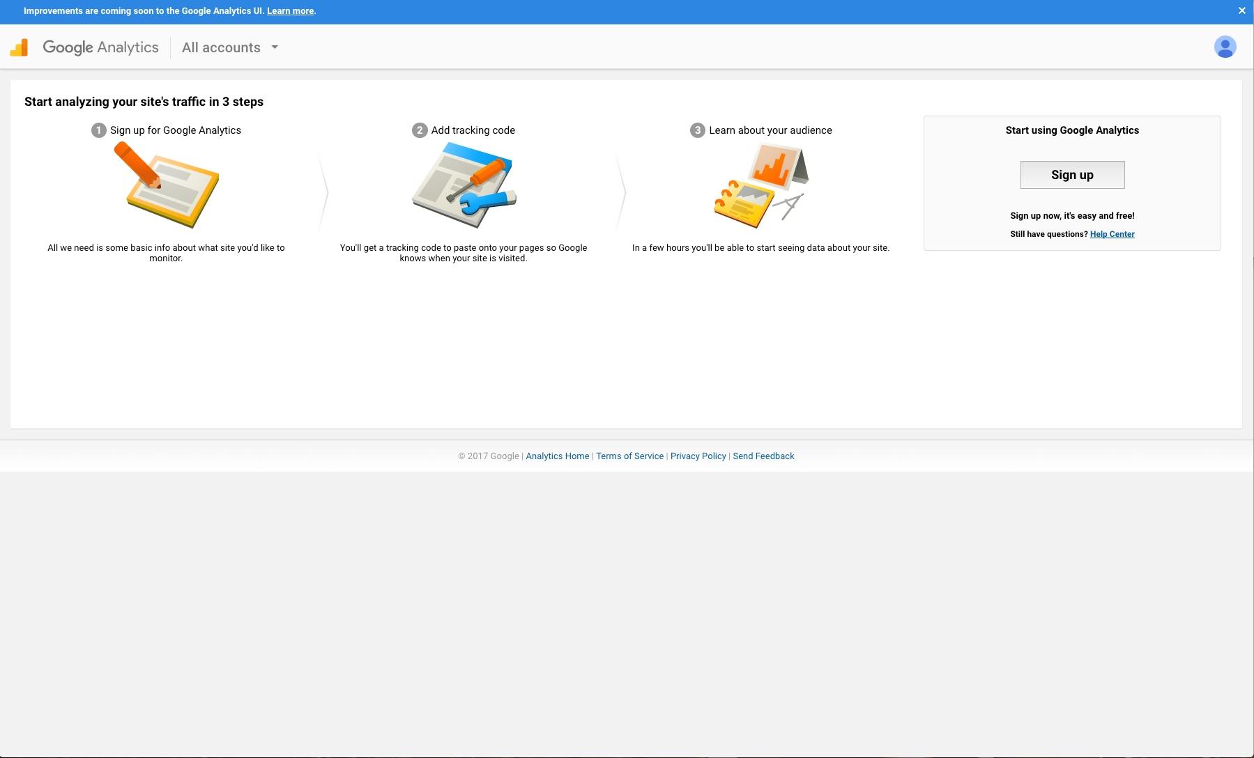 Create Google Analytics Account   OSU Drupal 7   Web