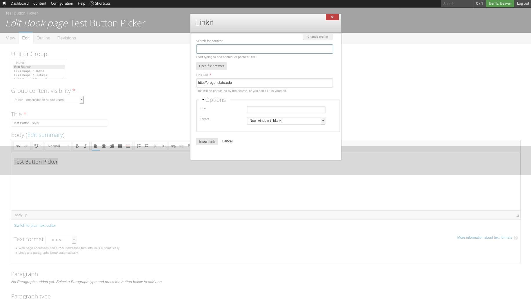 Button Picker | OSU Drupal 7 | Web Technology Training