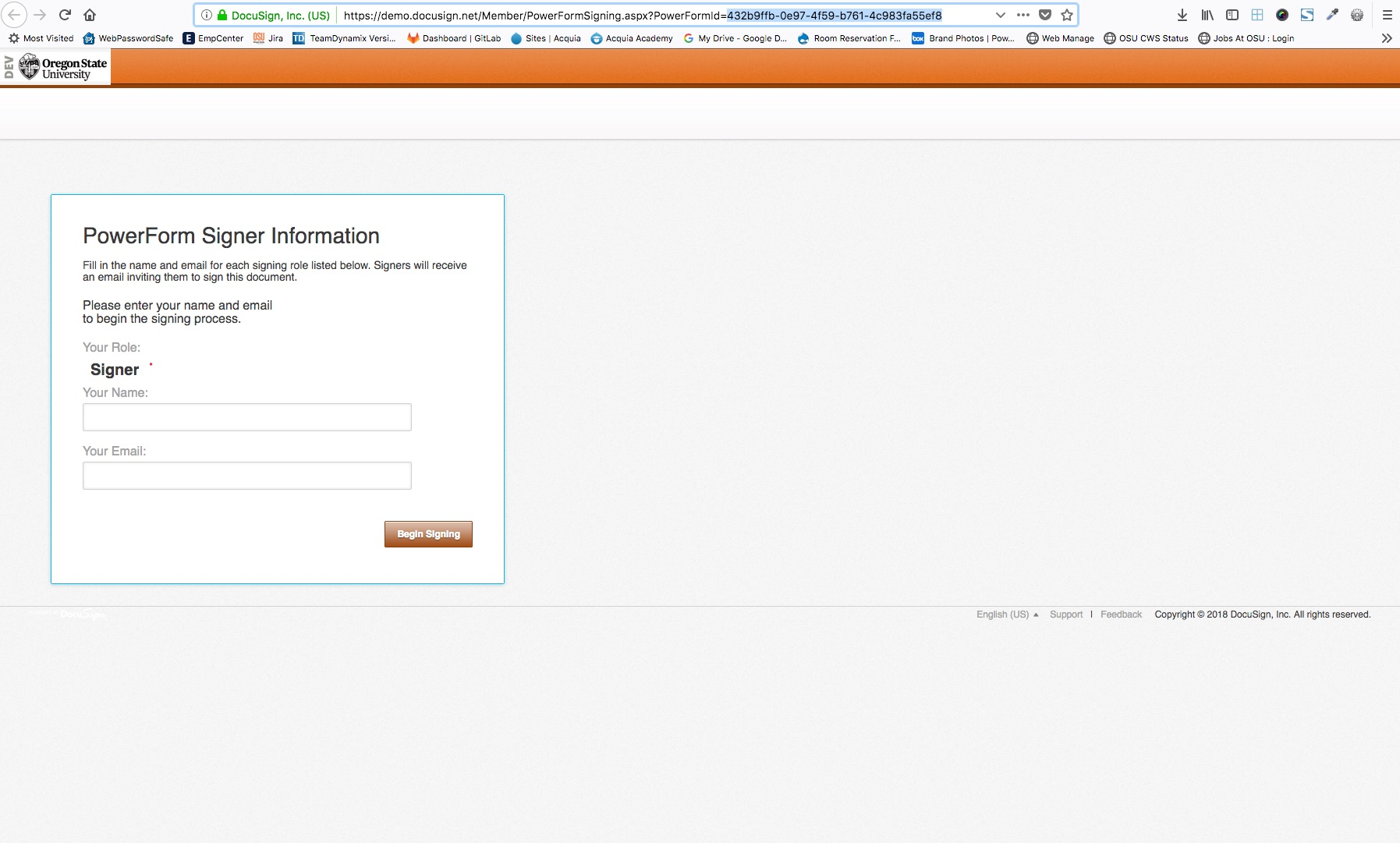 Integrate with DocuSign s PowerForm OSU Drupal 7