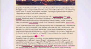 DrupalCon Austin 2014: DON'T LET CRAPPY CONTENT RUIN YOUR NEW SITE