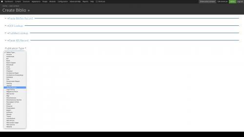 Entities - Node Entity - Biblio - Initialization Form