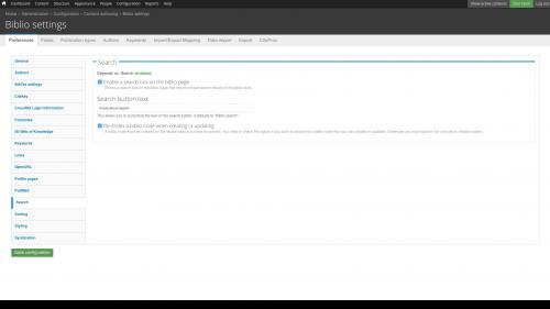 D7 - Working with Config - Biblio - Preferences - Change Search Settings