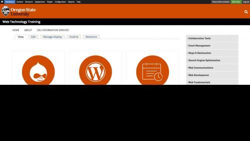 D7 OG - Add User - Click Dashboard in Admin Menu