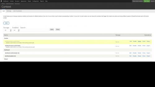 Context Module - Delete Context - Click Delete Link