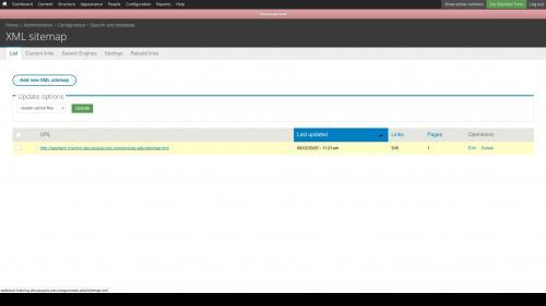 On XML Sitemap List Tab, click sitemap link