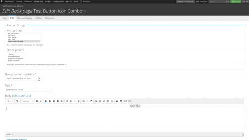 D7 Text Editor - OSU CKEditor Plugins - Button Picker - Combo - Create Content