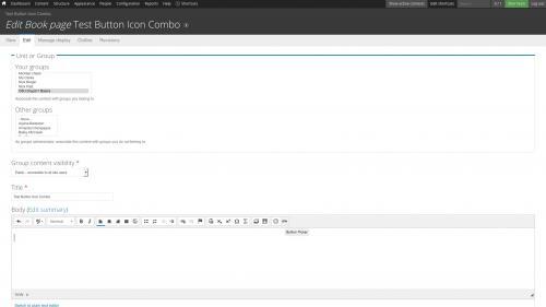 Add an Icon to a Button   OSU Drupal 7   Web Technology