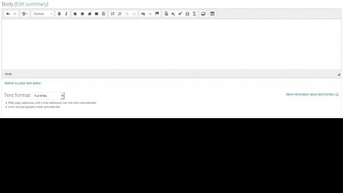 Media Module - Browser - Full HTML Toolbar Display