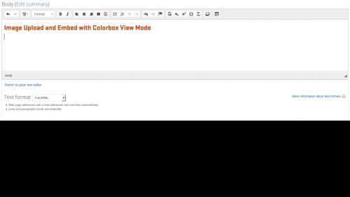 Media Module - Browser - Switch to Full HTML to Get Toolbar Button