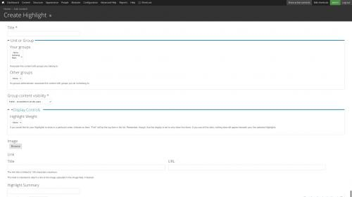 Entities - Node Entity - Highlight - Submission Form