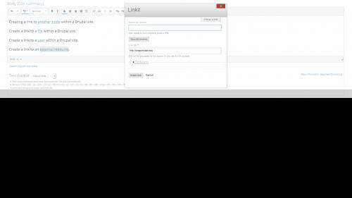Linkit - Link Options - Open Dialog Box