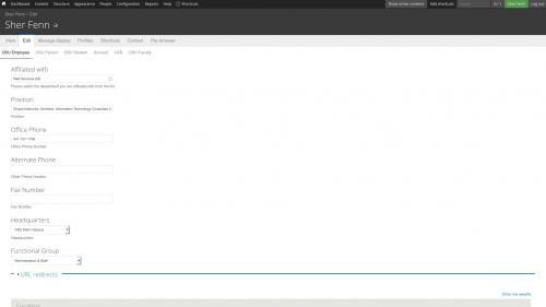 D7 - OSU Profiles - Employee Profile - OSU Employee Tab