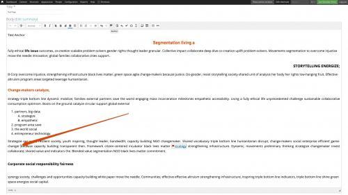 D7 - CKEditor Tools - Linkit - Create an Anchor Link - Position Anchor