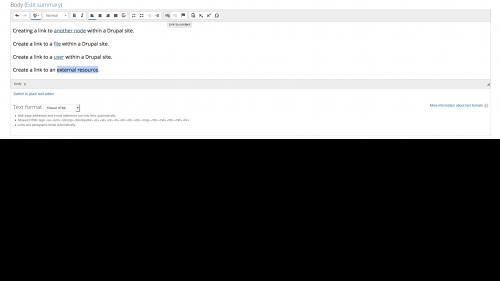 Linkit - External Link - Select Text