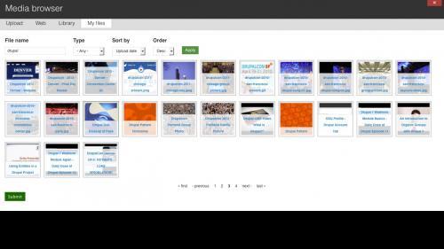Media Module - Browser - My Files Tab