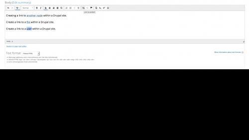 Linkit - Internal Link - User Link - Select Text