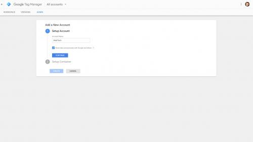 Google Tag Manager - Add Account Name and Toggle Visibility Setting