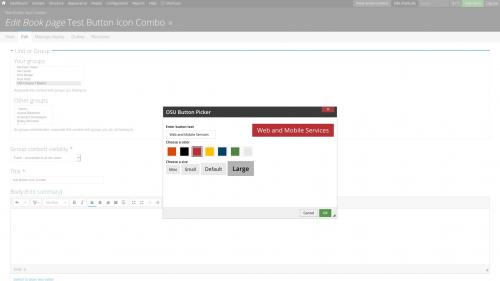 D7 Text Editor - OSU CKEditor Plugins - Button Picker - Combo - Add Text, Color, and Size