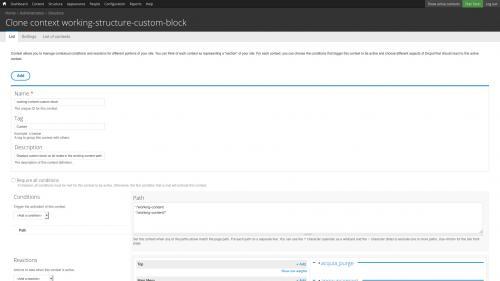 Context Module - Clone Context - Change Administration Info