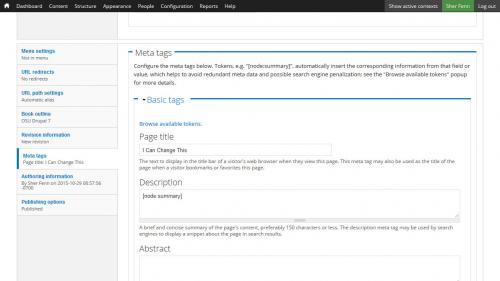 Metatag - Page Title - Change Page Title Meta Tag