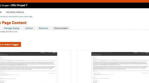 Working With Content - Clone Node - Click Clone Content Tab