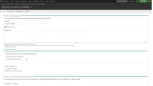 D7 - Working with Config - OG Config - Configure Group Content Visibility Field