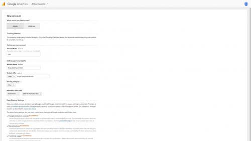 Google Analytics Module - Set Up Account - Create Account