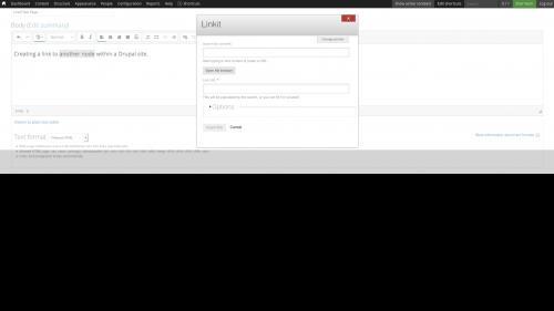 Linkit - Internal Link - Node Link - Dialog Box