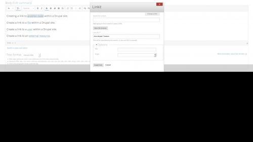 Linkit - Edit Link - Dialog Box Opens