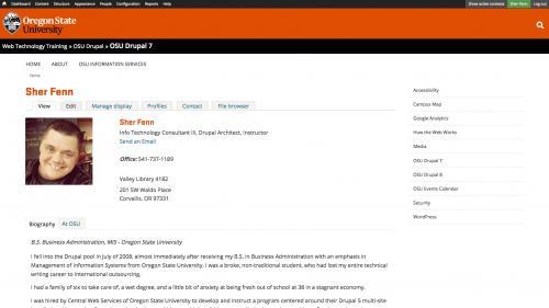 Biblio - Configuration - Preferences - Profile Pages - Click Edit Tab