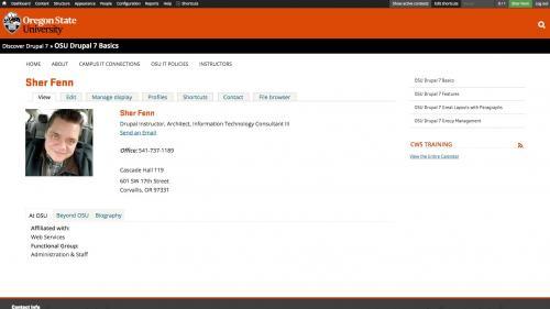 D7 - OSU Profiles - Employee Profile - OSU Employee Data Added