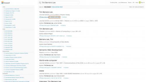 Biblio - Import - DOI - Search Results on CrossRef