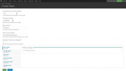OSU Live Feeds - OSU WordPress - Select WordPress Feed Type
