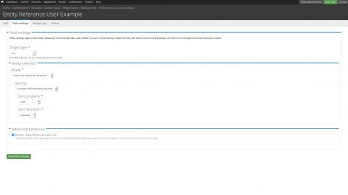 D7 - Fields - Configuration - User Entity Reference Field - Add Field Settings