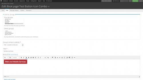 D7 Text Editor - OSU CKEditor Plugins - Button Picker - Combo - Adjust Cursor