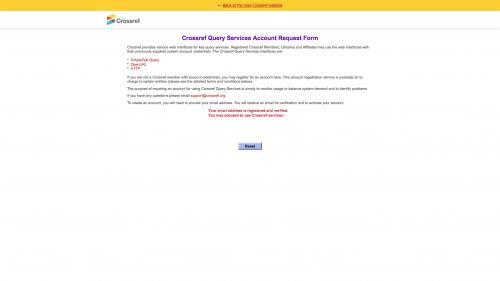 Biblio - Configure - Preferences - Crossref - Click Crossref Main Website Link