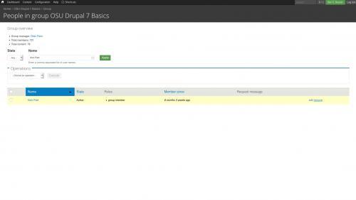 D7 - OG - Manage Group - Remove User - Click Remove Link