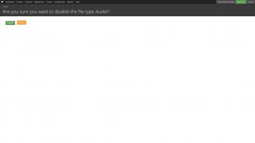 File Types - Disable - Audio File Type Disabled Confirmation