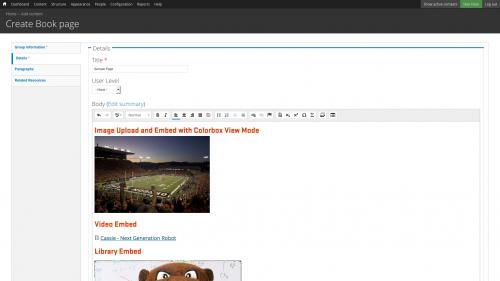 Media Module - Browser - My Files Tab - Completed Embed