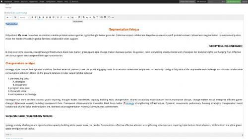 D7 - CKEditor Tools - Linkit - Create an Anchor Link - Highlight Link Text
