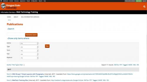 D7 - Working with Config - Biblio - Preferences - Search Filter Tools Open
