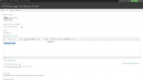 D7 Text Editor - OSU CKEditor Plugins - Button Picker - Click Linkit Button