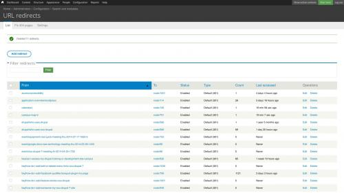 D7 - Working with Config - Search and Metadata - URL Redirects - List Tab - Bulk Deletion - System Confirmation