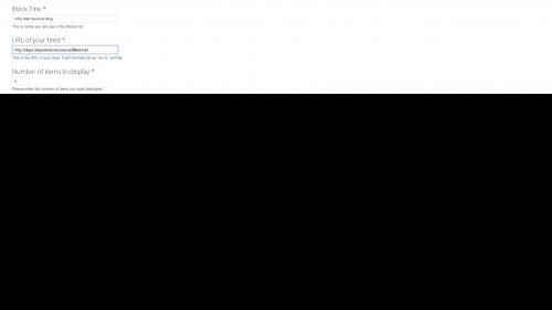 OSU Live Feeds - OSU WordPress - Update Block Title and URL Fields