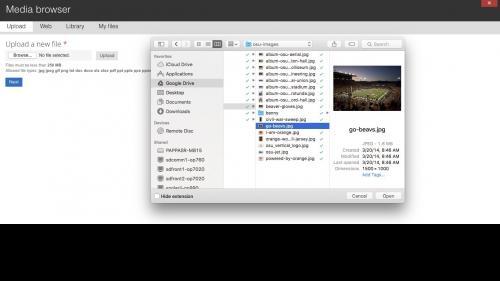 Media Module - Browser - Upload Tab - Upload File