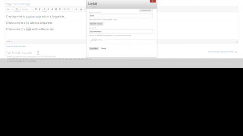 Linkit - Internal Link - User Link - User Path Added