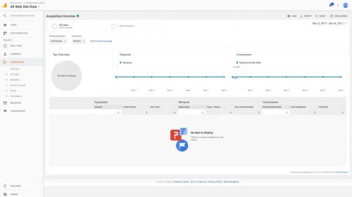 Google Analytics Module - Test Drive - Acquisition Overview