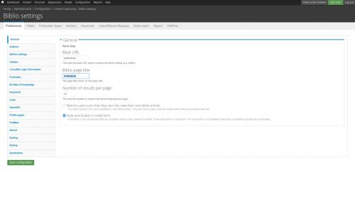 D7 - Working with Config - Biblio - Change Biblio Page Title